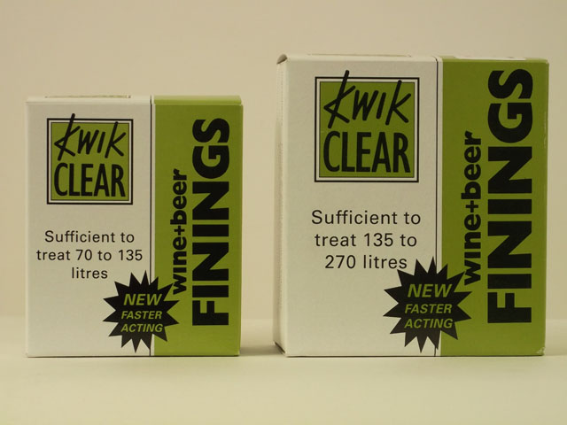 Finings, Chemicals etc